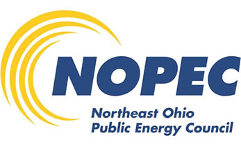 nopec logo in blue text on a white background
