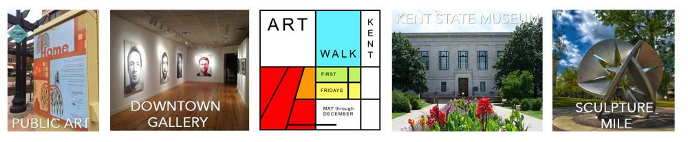 Public Art, Downtown Gallery, Art Walk, Kent State Museum, Sculpture Mile